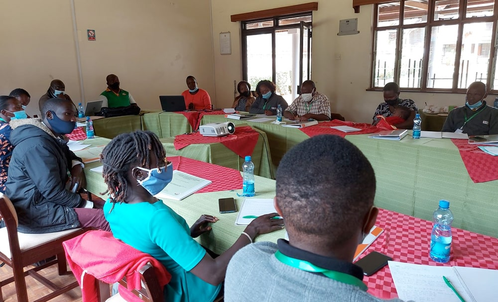 10 farmer groups trained on seed production and certification.